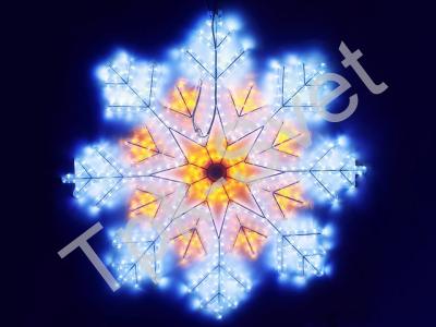 Снежинка LED бело-желтая, 90 х 90 см