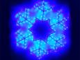 Снежинка синяя, 60х60 см