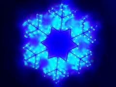 Снежинка LED синяя, 47х47 см