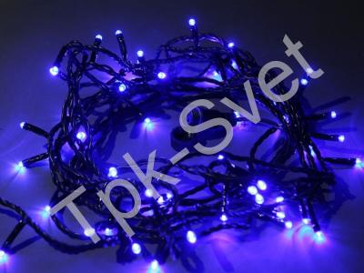 Светодиодная гирлянда Твинкл Лайт, 10 метров, без контроллера, синий