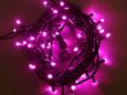 Светодиодная гирлянда Твинкл Лайт, 10 метров, с контроллером, розовый