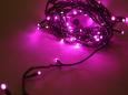Светодиодная гирлянда Твинкл Лайт, 20 метров, с контроллером, розовый
