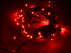 Светодиодная гирлянда Твинкл Лайт, 10 метров, с контроллером, красный