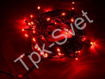 Светодиодная гирлянда Твинкл Лайт, длина 10 метров, с контроллером, красный