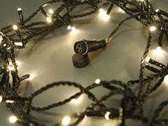 Светодиодная гирлянда Твинкл Лайт, 10 метров, с контроллером, теплый белый