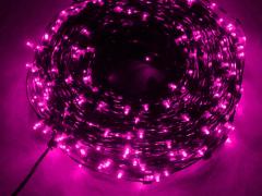 Светодиодный Клип Лайт, с трансформатором в комплекте, розовый