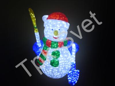 """Светодиодная фигура """"Снеговик"""", высота 120 см"""