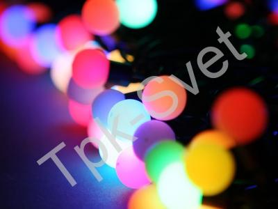 """Мультишарики """"mini"""", 10 метров, RGB-светодиоды, диаметр шарика 17 мм., мульти"""