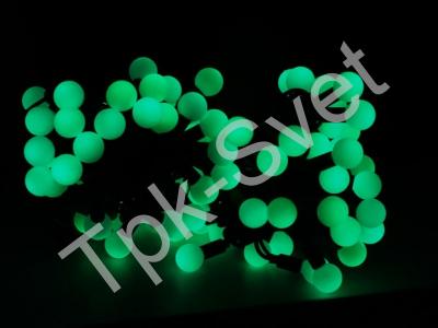 "Шарики ""maxi"", 10 метров, без контроллера, диаметр шарика 24 мм, зеленый"