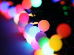 """Мультишарики """"Maxi"""", 10 метров, RGB-светодиоды, диаметр шарика 24 мм"""
