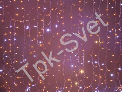 LED Плей-лайт Flash с эффектом мерцания Световой дождь 2х1,5 м, желтый