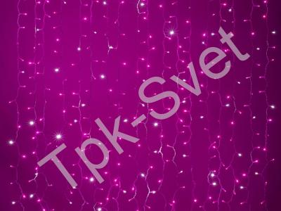 LED Плей-лайт Flash с эффектом мерцания Световой дождь 2х1,5 м, розовый