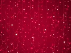 LED Плей-лайт Flash с эффектом мерцания Световой дождь 2х1,5 м, красный
