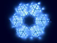 """Светодиодный мотив """"Снежинка"""", размер 45*45 см, синий"""