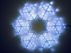 """Светодиодный мотив """"Снежинка"""", размер 45*45 см, белый"""