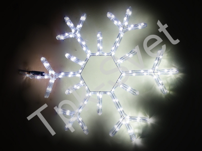 """Светодиодный мотив """"Снежинка"""", с контроллером размер 60*60 см, белый"""