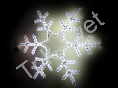 """Светодиодный мотив """"Снежинка"""", размер 75*75 см, белый"""