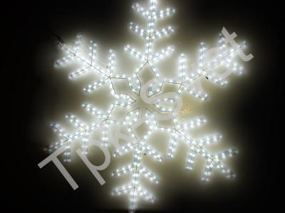 "LED Мотив ""Снежинка"", размер 95*95 см, белый"