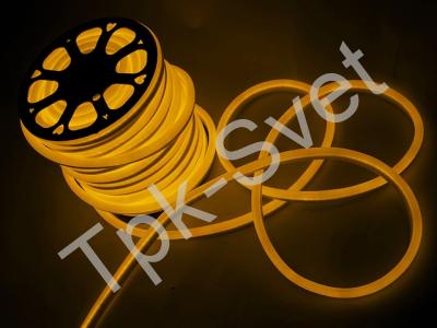 LED Неон-Флекс 13х15х27 мм, 2 жилы, желтый
