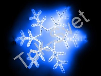 """Светодиодный мотив """"Снежинка"""", размер 75*75 см, синий"""