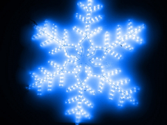 "LED Мотив ""Снежинка"", размер 95*95 см, синий"