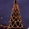 Оформление елки светодиодовыми гирляндами