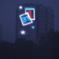 Световое оформление стен высотных зданий 6
