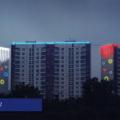 Световое оформление стен высотных зданий 7